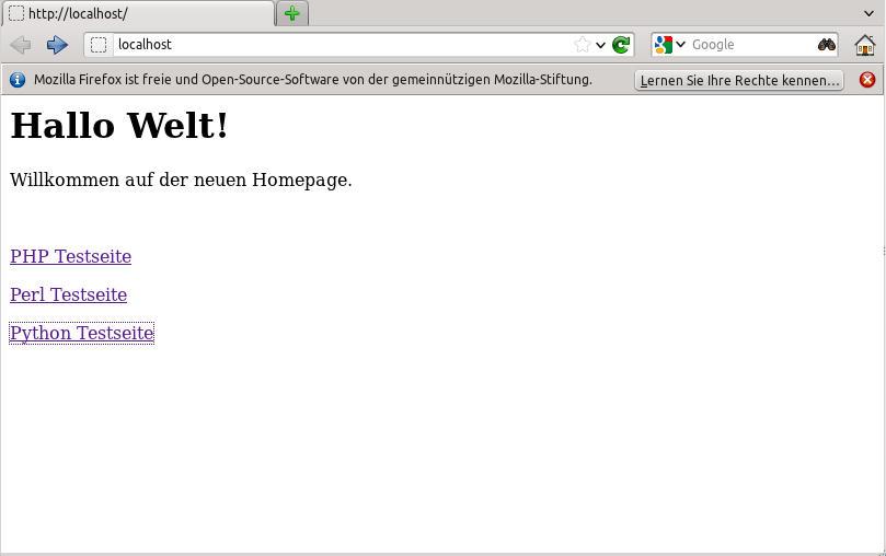 einfache HTML Seite