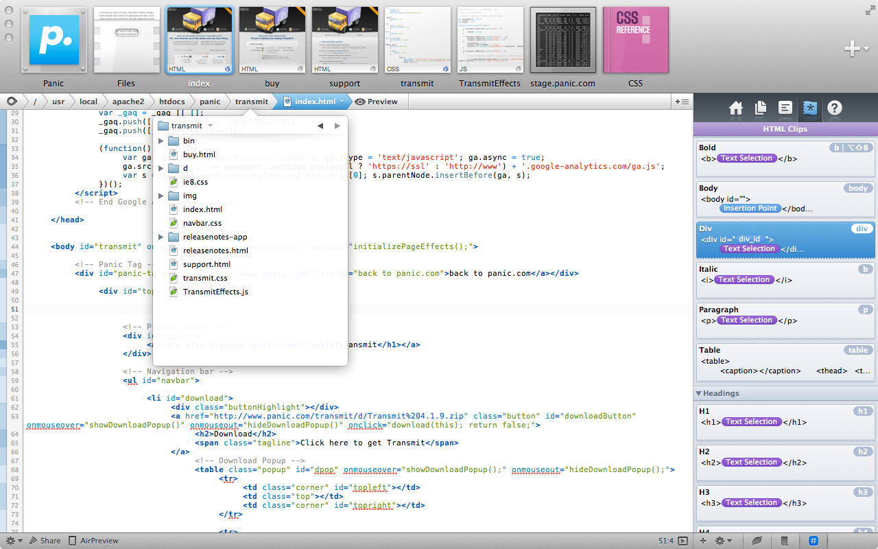Coda2 Editor