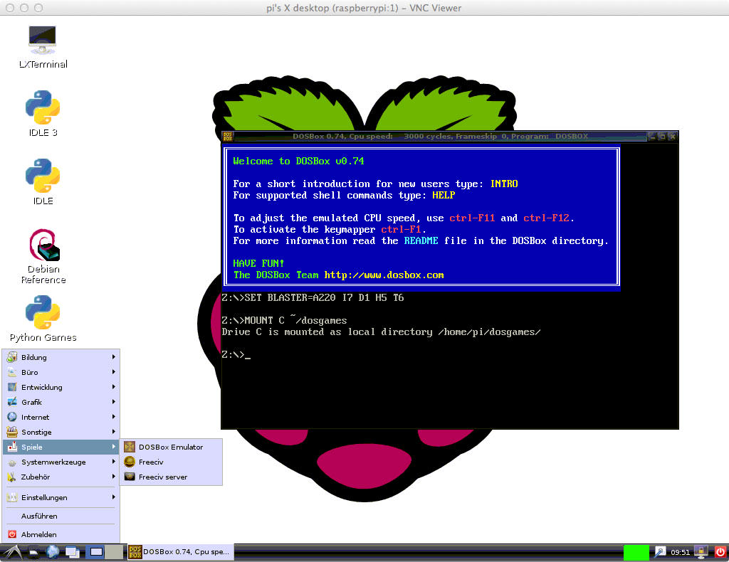 DOSBox on your Raspberry Pi - Developer-Blog