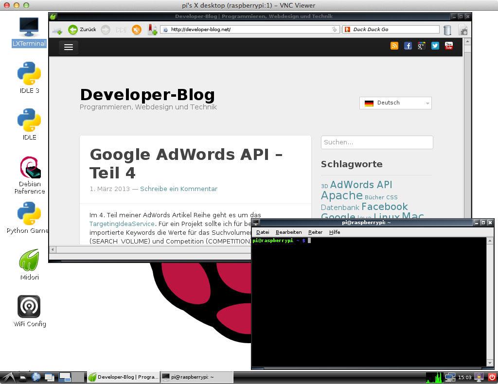Raspberry Pi über VNC am iPad steuern