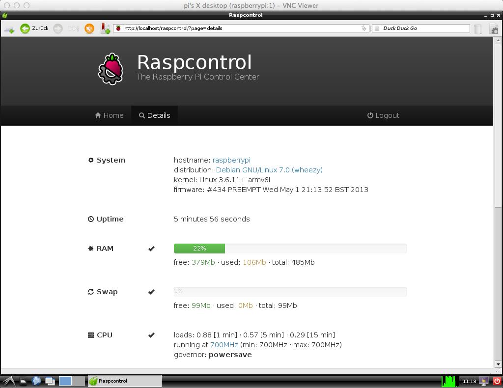 raspcontrol