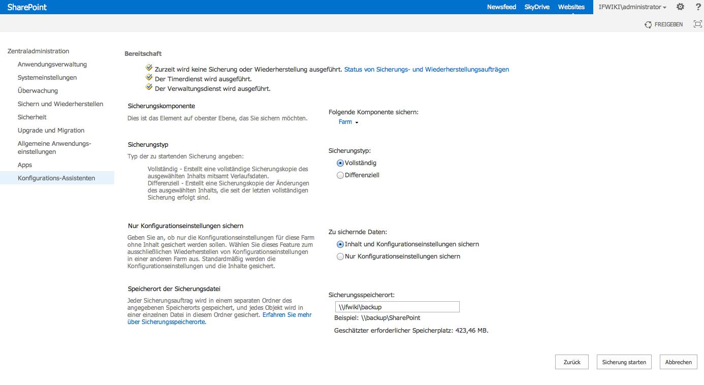 SharePoint 2013 Backup