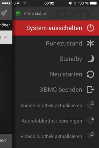 xbmc system logout
