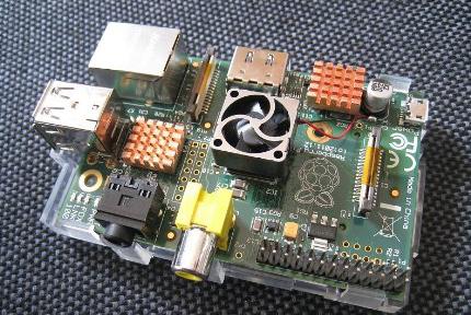 Raspberry Pi mit aktivem Lüfter