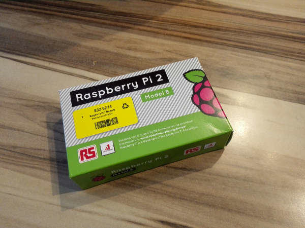 Raspberry Pi 2 verpackt