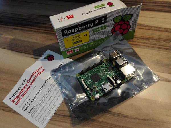 Raspberry Pi 2 Verpackung