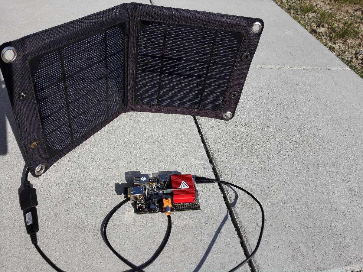 HummingBoard Sonnenenergie