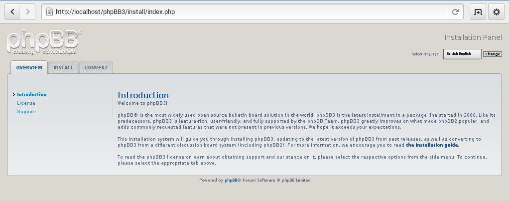 phpbb installieren