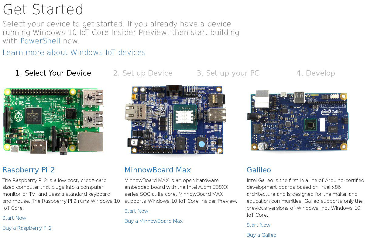 Raspberry Pi Windows 10 Homepage