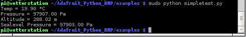 BMP085 Messwerte