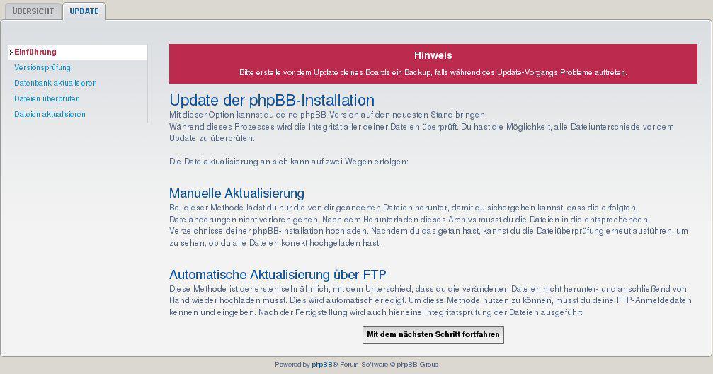 phpbb Update