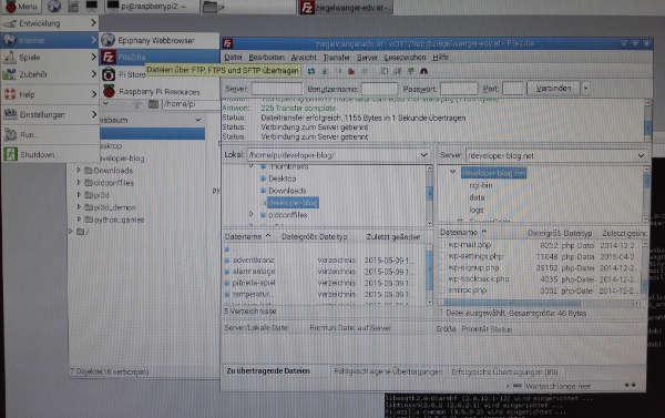 Raspberry Pi FTP Client