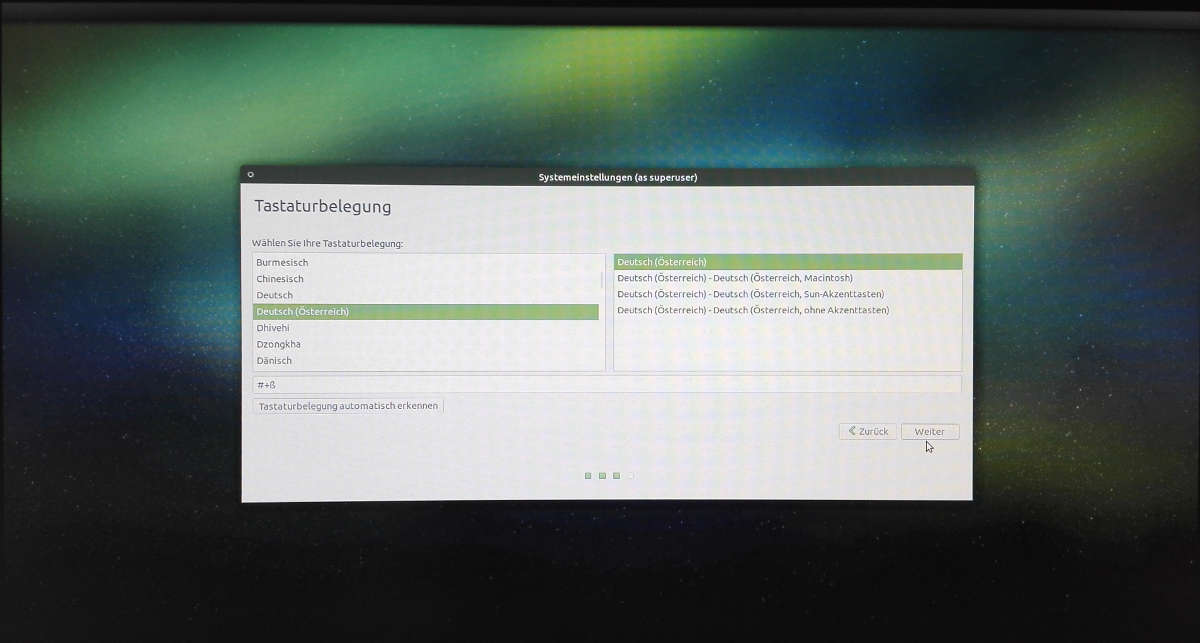 Ubuntu Mate einrichten Tastaturlayout