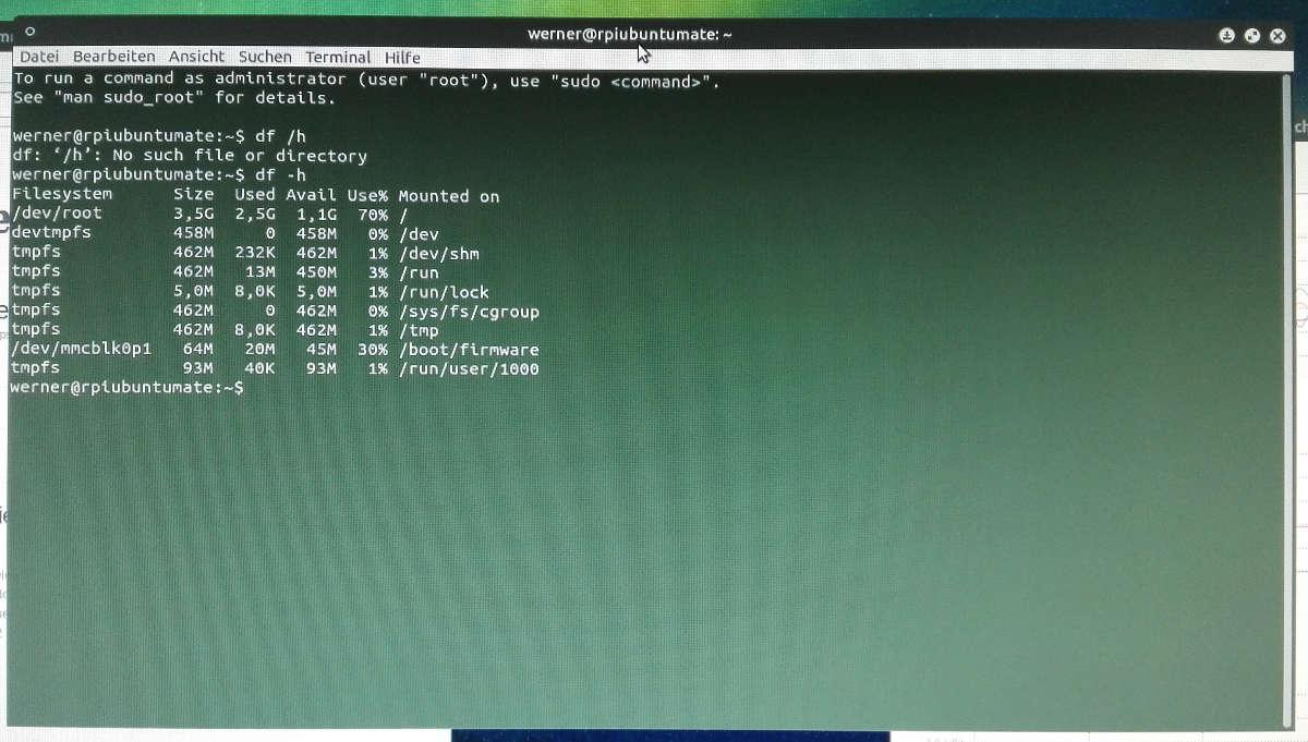 Ubuntu Mate Partition vergrößern