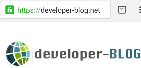 SSL Zertifikat installieren - Developer-Blog