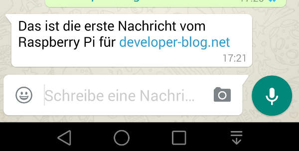 Raspberry Pi Whatsapp