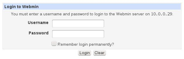 Raspberry Pi Webmin Login
