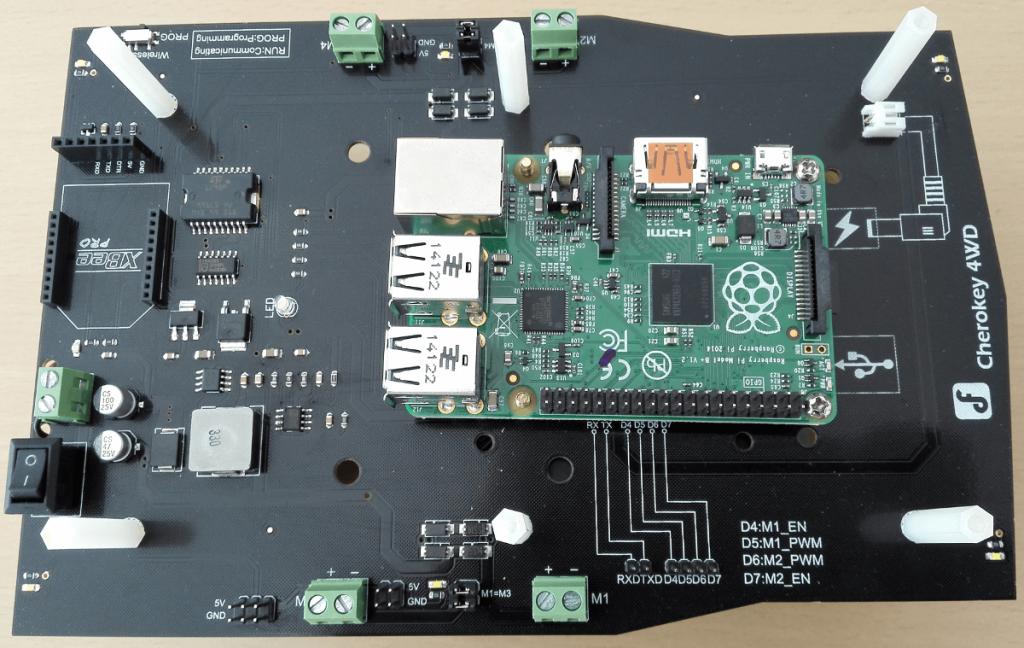 Raspberry Pi Roboter zusammenbauen