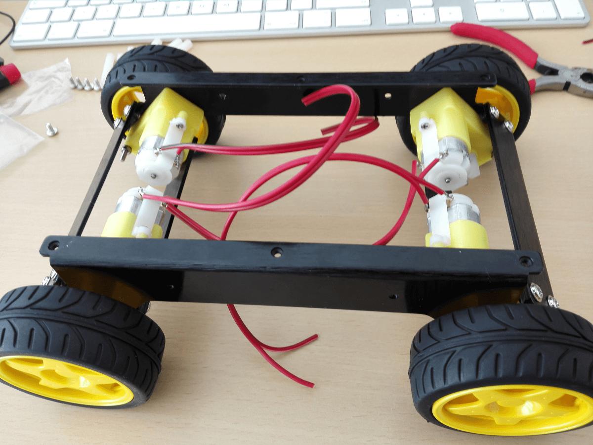Roboter Chassis montieren