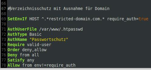 Domain Verzeichnisschutz