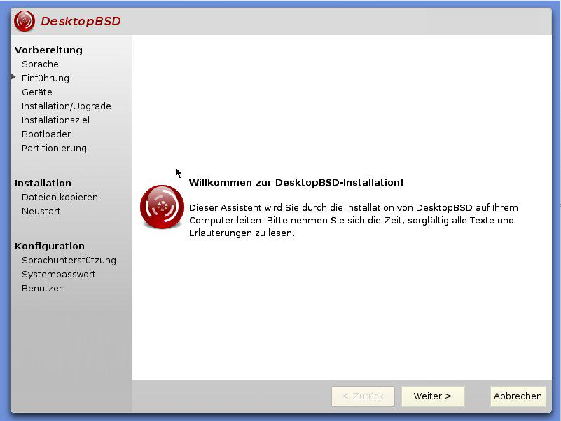 DesktopBSD Installer