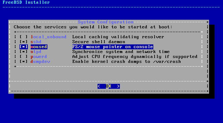 FreeBSD System Konfiguration