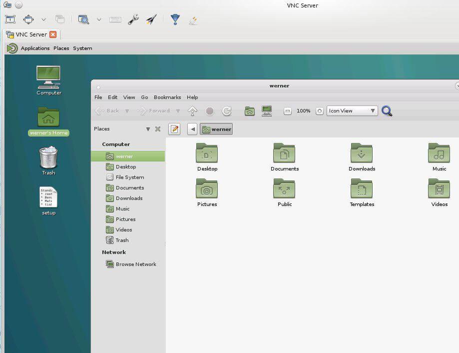 VNC Server installieren und konfigurieren