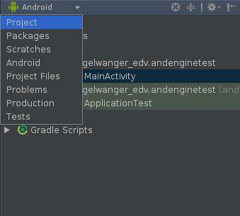 Projektansicht Android Studio