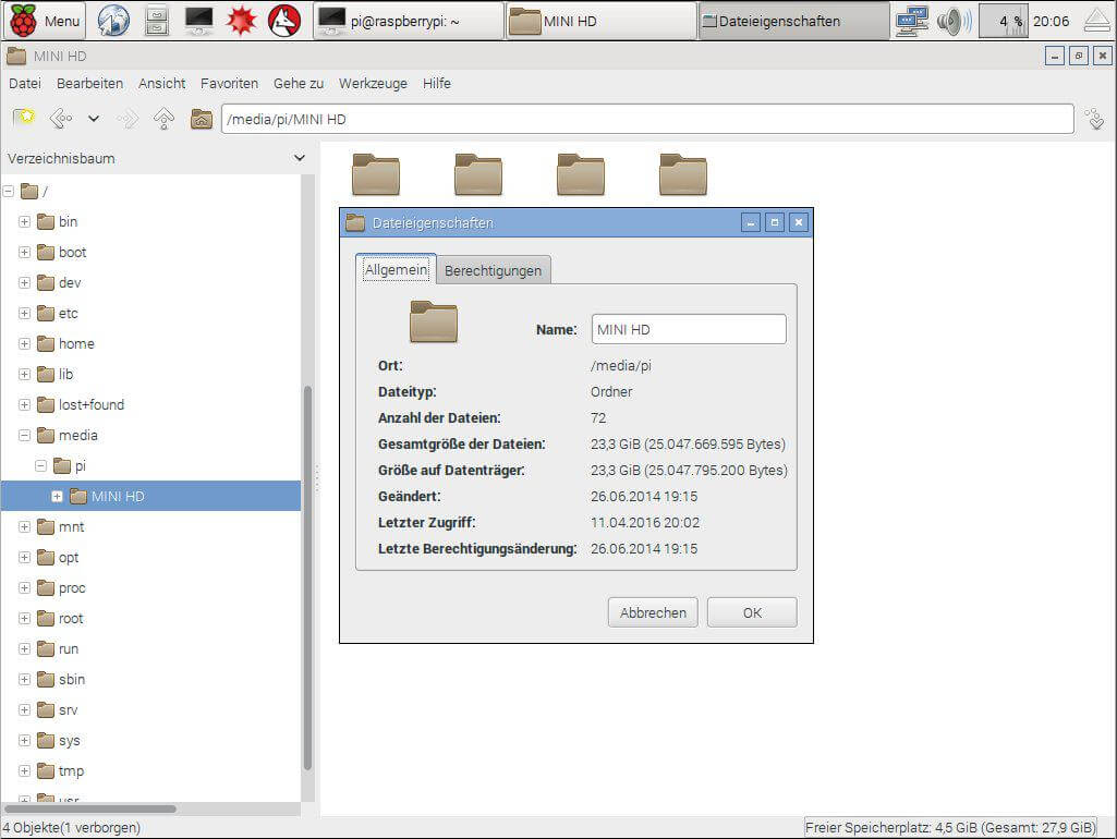 Raspberry Pi Festplatte mounten