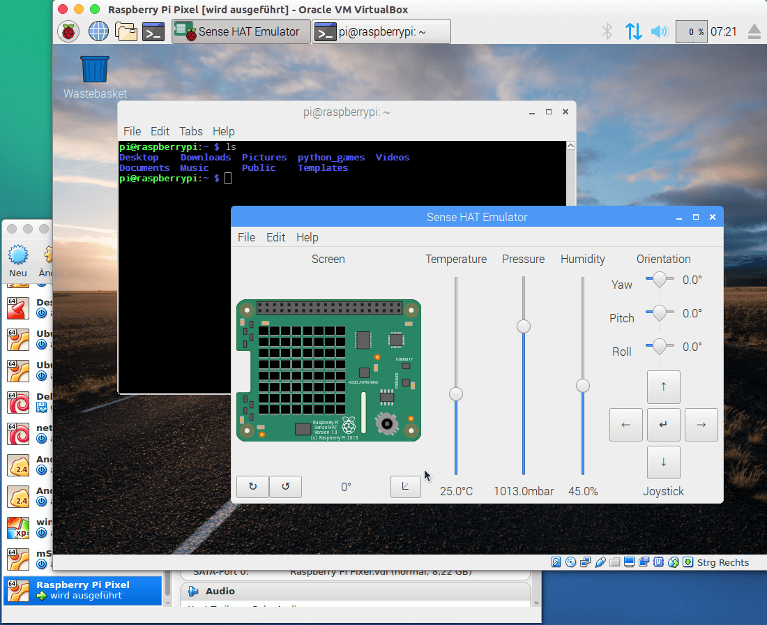 virtueller Raspberry Pi mit Pixel Desktop