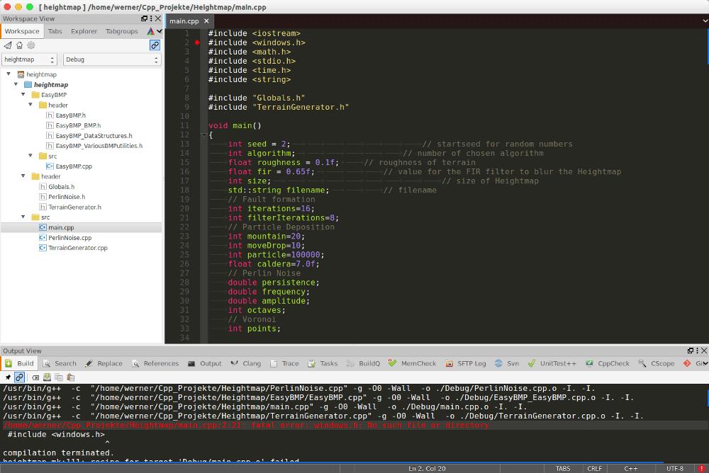 C++ Programm Windows Linux portieren
