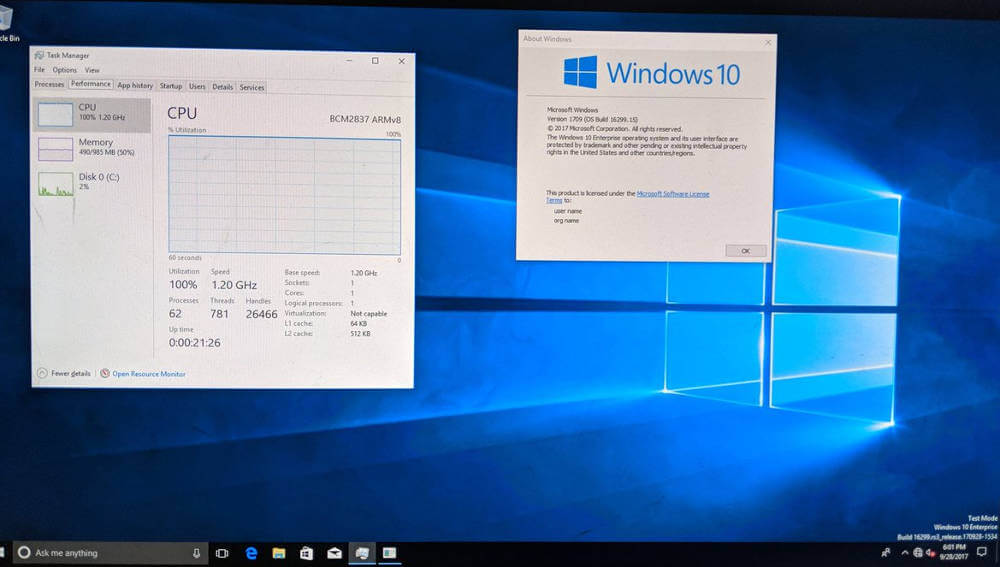 echtes Windows 10 am Raspberry Pi