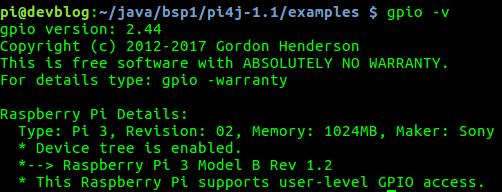 Raspberry Pi 3 GPIO Version
