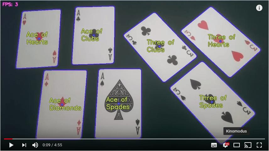 Raspberry Pi erkennt Spielkarten