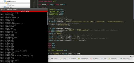 MySql Datenbank unter C++ verwenden