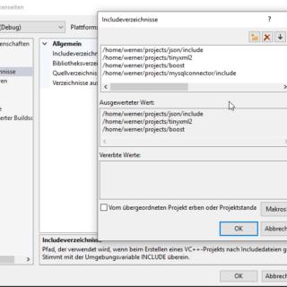 linux includes korrigiert