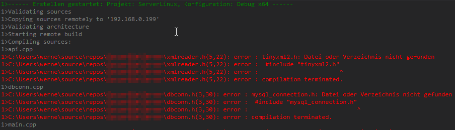 Linux Remote Datei oder Verzeichnis nicht gefunden