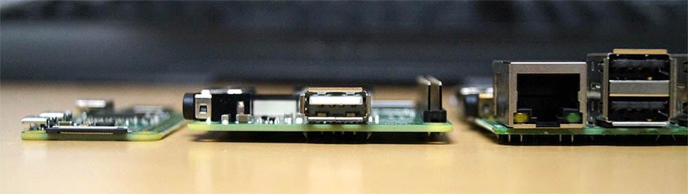 Raspberry Pi Modell A+ im Querschnitt