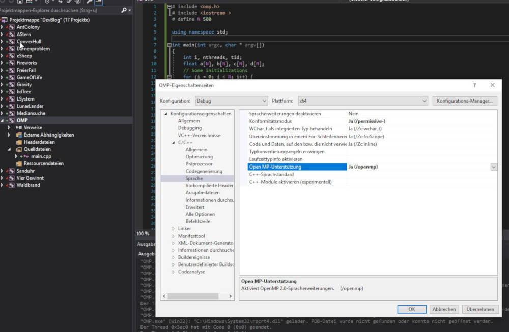 Open MP in C++