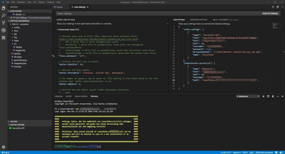 Visual Studio Code SSH Terminal