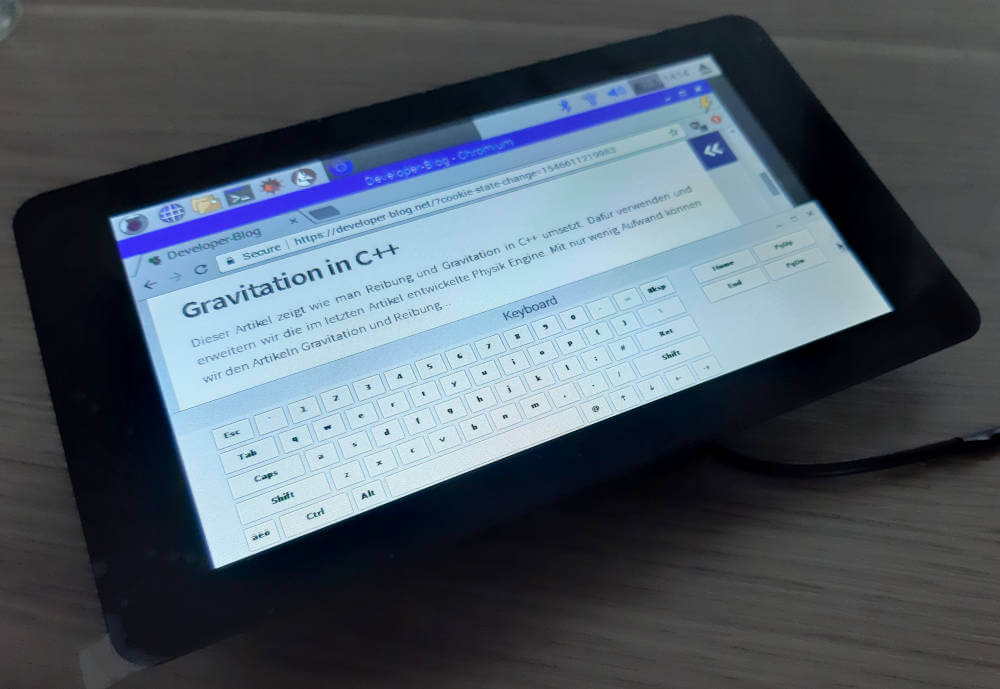Raspberry Pi Touchscreen Bildschirmtastatur