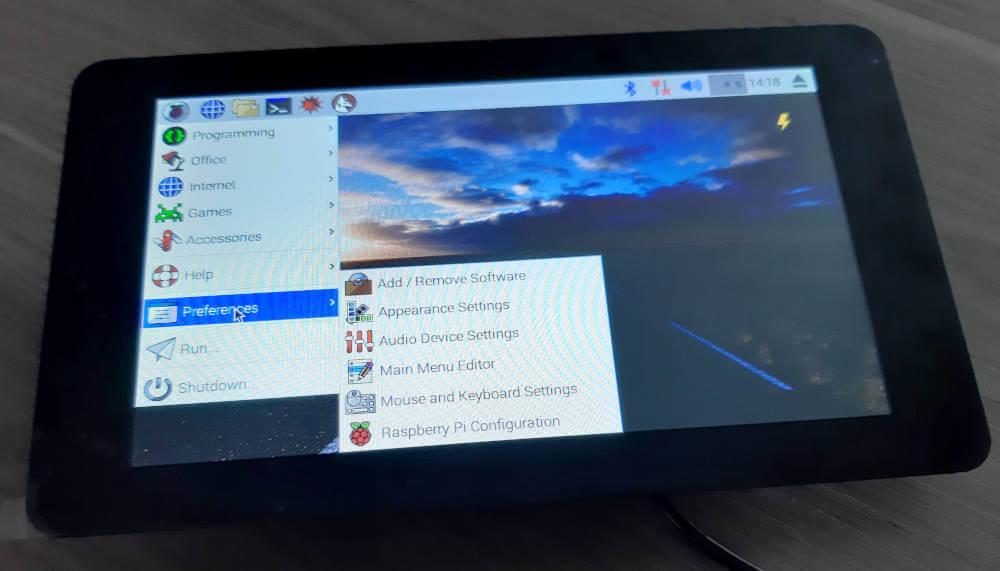 Raspberry Pi Touchscreen Rechtsklick