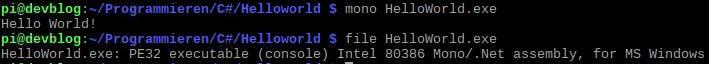 .Net Code unter Linux ausführen