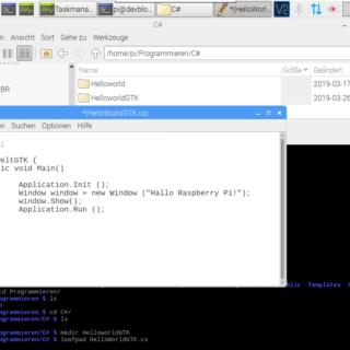 Raspberry Pi csharp Fenster Programm