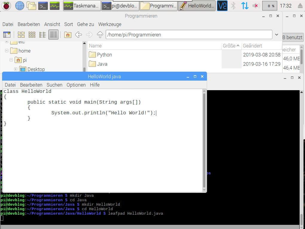 Raspberry Pi Java Hello World