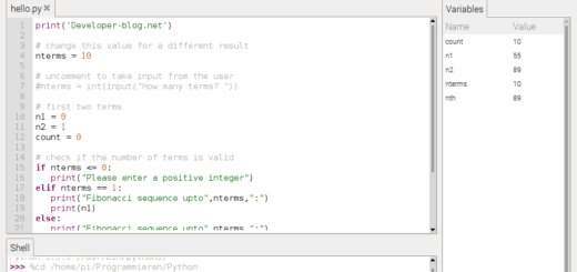 Thonny Python IDE für Anfänger