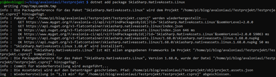dotnet add package SkiaSharp.NativeAssets.Linux