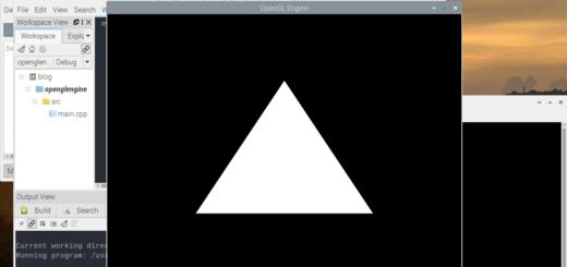 erstes Raspberry Pi OpenGL Programm