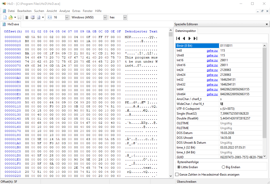 HxD Hex Editor Windows