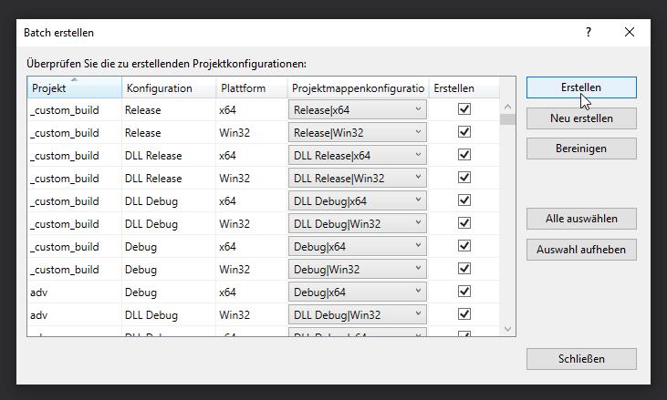 wxWidgets batch erstellen